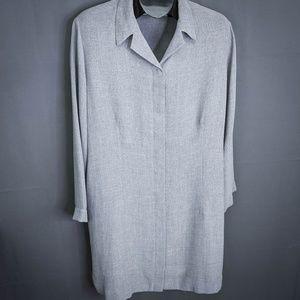 Venezia Womens Duster Blazer Size 18/20 2XL Gray